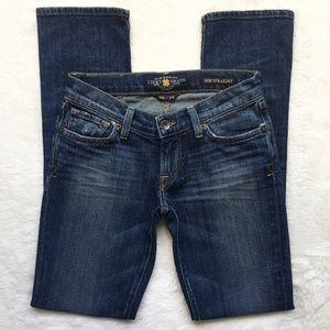 Lucky Brand Zoe Straight Ol Pura Vida Wash Jeans